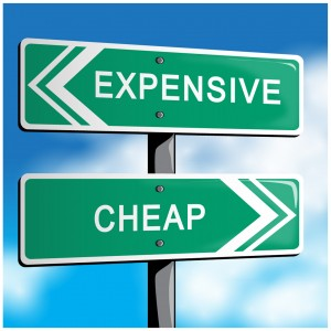 expensive vs cheap