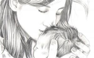 Loving mom