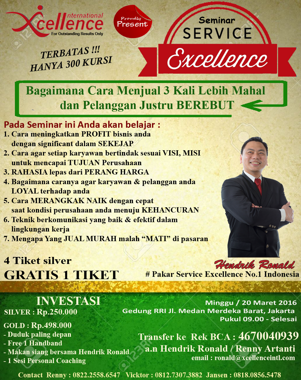 Seminar Service Excellence by Hendrik Ronald